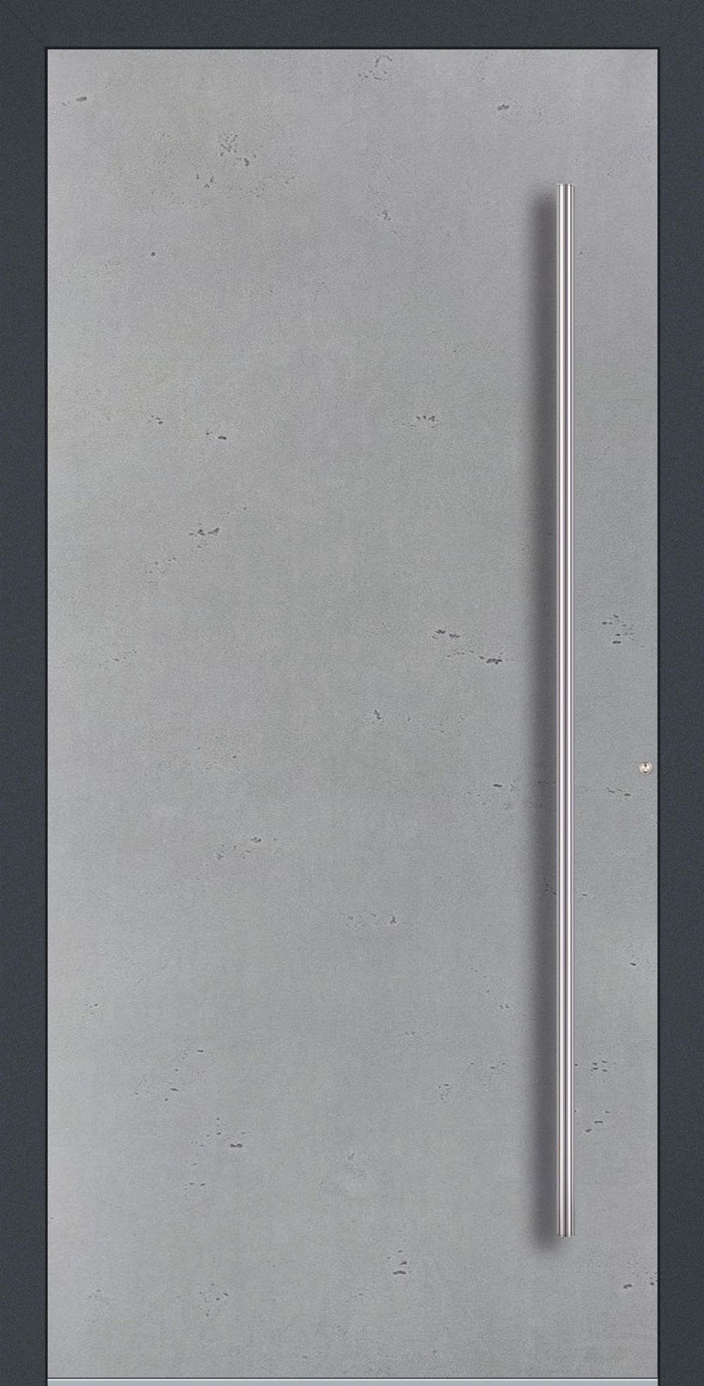 B01 komplett geschlossen Betonoptik Vintage einseitig außen Anwendungsbeispiel in flügelüberdeckend, Edelstahlgriff 1600 ES